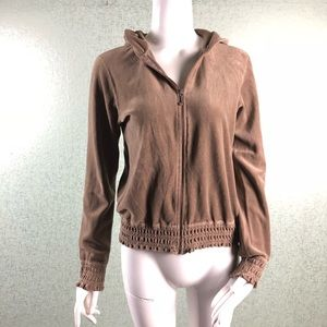 Juicy Couture Light Brown Hooded Jacket